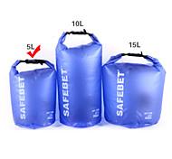 Rafting Bag Dry Bag Waterproof Travel Bag Backpack Type 5 Liters Blue