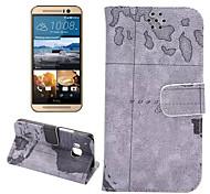 классический карта татуировки искусственная кожа флип бумажник владельца карты телефона кобуры для HTC M9 (ассорти цветов)