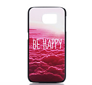 Red Cloud Pattern PC Phone Case for Samsung Galaxy S6