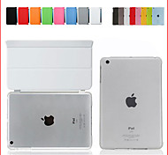 For iPad Air2 For iPad6 Smart Cover Case Front leather Cover+Matte Back Cover