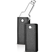 16GB Metal Key USB Flash Drive with Leather Case