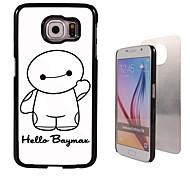 design cartoon et étui rigide bonjour design en aluminium pour Samsung Galaxy S6