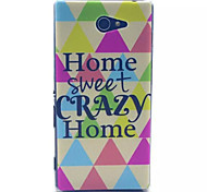 Happy Home Pattern PC Hard Case for Sony Xperia M2