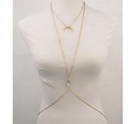 Women's Body Jewelry Body Chain Simulated Diamond Alloy Unique Design Fashion Sexy Jewelry Gold Screen Color Jewelry Casual 1pc
