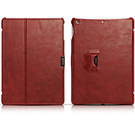 Genuine Leather Full Body Case And Folding Case And Flip Up And Down And Vintage Style For Apple ipad air 9.7 Inch