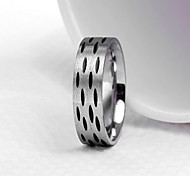 Z&X® Men's Party/Casual Fashion Speckle Titanium Steel Rings