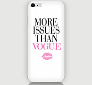 English Lips Pattern Case Back Cover for Phone6 Plus Case