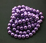 Beadia 2 Str(approx 230pcs) Glass Beads 8mm Round Imitation Pearl Beads Purple Color DIY Spacer Loose Beads