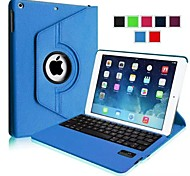 Wireless Bluetooth 64-Key Keyboard Case w/ Detachable Rotation Stand for IPAD AIR (Assorted Colors)