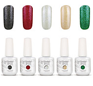 Gelpolish Nail Art Soak Off UV Nail Gel Polish Color Gel Manicure Kit 5 Colors Set S127