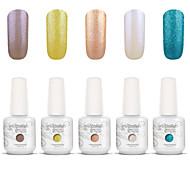 Gelpolish Nail Art Soak Off UV Nail Gel Polish Color Gel Manicure Kit 5 Colors Set S130