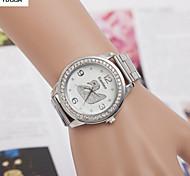 quartzo suíço liga de diamante da senhora relógios moda relógios cinto de ouro