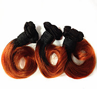 "1Pcs 10"" Peruvian Virgin Hair Body Wave Human Hair Extensions  Color 1b/350 Ombre Human Hair Weaves"