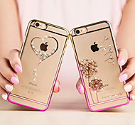 Fashion Ultra-thin Diamond Plating Bright Plastic Cover for iPhone 6(Assorted Colors)