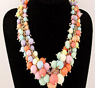 Cusa Metal Candy Color Grapes Necklace