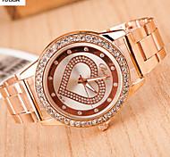 Mulheres Relógio de Moda Lega Banda Ouro Rose marca-