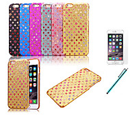 Colorful Glitter Stars Bling Back Case Cover For Apple iPhone 6 Plus 5.5 inch+Protective Film+Pen (Assorted Colors)