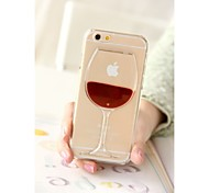 venta caliente líquido botella 3d coctel cubierta de la caja transparente para el iphone de apple 6 6 más 5 5s casos contraportadas