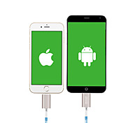 New 8pin Micro USB Cable Two in One Charing Zipper Cable for iPhone 5/5s 6 6plus for Samsung HuaWei Android Smart Phone
