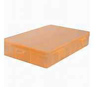 Fashion Plastic Removable 24 Grid Jewelry Boxes Multicolor