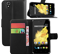 Litchi Around Open Bracket Leather Phone Wallet Card Suitable for Wiko Birdy (Assorted Color)