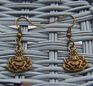 Lovely Frog Shaped Bronze Earrings