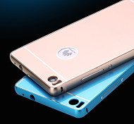 Metal Frame Acrylic Mirror Backplane Metal Hard Case for Huawei P8 (Assorted Colors)