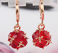 Women's Fashion Gold Filled CZ Stone Dangle Earring