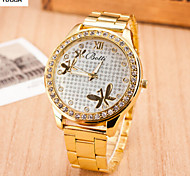 Lady'S Quartz Swiss Alloy Steel Band Watch Watch Love Word