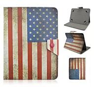 usa modello della bandiera nazionale di vibrazione magnetica del basamento universale pu custodia in pelle per il pc tablet da 10 pollici