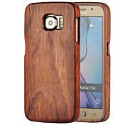 modèle de matériau bois affaire de protection de la magie avec protecteur d'écran pour Samsung Galaxy S6 (couleurs assorties)