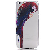 Parrot Pattern TPU Material Soft Phone Case for iPhone 6