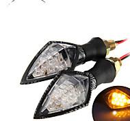 motocicleta universales llevó convertir indicadores de señal de luz ámbar intermitente lámpara (2 piezas)