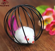 FUN OF PETS® Lovely Mouse In The Cage Shaped Toy for Pet Dogs Cats(Random Colour)