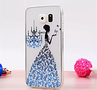 3 D Set Auger  pattern TPU Soft Cover for Samsung Galaxy S6