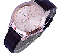 Women's Watch Fashion Diamante Luxury Gold Dial PU Band Wrist Watch Cool Watches Unique Watches