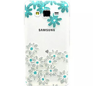 Para Funda Samsung Galaxy Transparente / En Relieve Funda Cubierta Trasera Funda Flor TPU Samsung J7 / J5