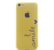 patrón sonrisa ultrafino caso duro para el iphone 5c