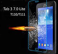 Ultra HD delgada clara prueba de explosión de vidrio templado cubierta protector de pantalla para samsung galaxy tab 3 Lite T110 / T111