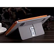 color sólido auto de cuero de la PU del sueño / despierta casos casos de sobres en folio para el aire ipad (color clasificado)