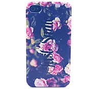 Smiling Flowers Pattern PC Material Phone Case for iPhone 4/4S