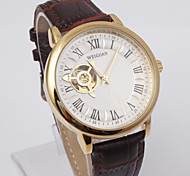 Luxury Brown Leather Automatic Mechanical Men's Sport Watch