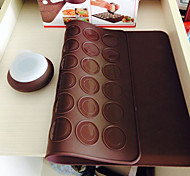 Macarons Decaoration Set Silicone Baking Pastry Sheet Macaroons Mat With Decorating Pen Set