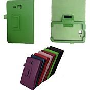 nieuwe slanke magnetische lederen hoes beschermende stand case voor de Samsung Galaxy Tab 3 7.0 T110 T111