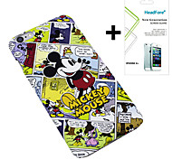 """Disney Mickey Comics Cover Case for Iphone6 Plus 5.5"""" Free with Headfore Screen Protector for Iphone6 Plus 5.5"""""""