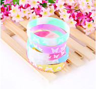 HUALUO®Popular Butterfly Pattern Colorful Silicone Bracelets(Random Color)