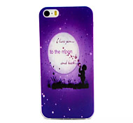 I Love You To The Moon Pattern TPU Material Phone Case For iPhone 5/5S