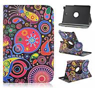 kleur aan de droom patroon 360 graden roating full body case met standaard voor Samsung Galaxy Tab een 9,7 T550 / 8 T350 vangen