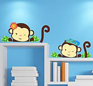 Cartoon Lovely Monkey PVC Wall Sticker Wall Decals