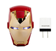 Disney Marvel Avengers Iron Man 6000 mAh Power Bank External Battery For Iphone ,Samsung And Any USB Device